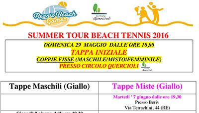 29/05 SUMMER TOUR BEACH TENNIS 2016