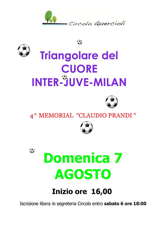 CALCIO TRIANGOLARE del Cuore MILAN-INTER-JUVE
