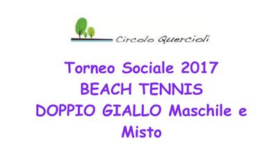 25/06 BEACH TENNIS DOPPIO GIALLO MASCHILE MISTO